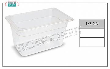 Gastronorm GN 1/3 containers in polypropylene Gastro-norm container 1/3, in polypropylene, dim. 325 x 175 x 65 h