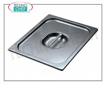 18/10 stainless steel lid with handle for GN 1/9 basin