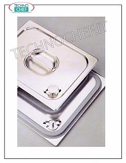 18/10 stainless steel lid with handle for GN 2/3 basin