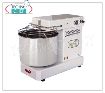 FAMAG - Technochef, Grill, Spiral Kneader 10 Kg, 10 SPEED, mod. IM10 / 230 FAMAG Professional spiral mixer with 13 liter head and fixed bowl, mixing capacity 10 Kg, 10 SPEED, V 230/1, kW 0.4, Weight 35 Kg, dim.mm.530x300x430h