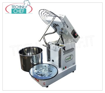 FAMAG - Technochef, Grill, 10 Kg Professional Spiral Kneader, mod. IM10S / 230 Spiral mixer FAMAG with lifting head and removable bowl of 13.5 liters, dough capacity 10 Kg, V 230/1, kW 0.4, Weight 36 Kg, dim.mm.530x300x430h