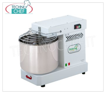 FAMAG - Technochef, Grill, Spiral Kneader 10 Kg, mod. IM10 / 230 FAMAG Professional spiral mixer with 13 liter head and fixed bowl, mixing capacity 10 Kg, V 230/1, kW 0.4, Weight 35 Kg, dim.mm.530x300x430h