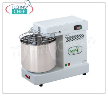 FAMAG - Grill, 8 kg Professional Spiral Dough Mixer FAMAG spiral mixer with 11 liter head and fixed bowl, mixing capacity 8 Kg, V 230/1, kW 0.35, Weight 30 Kg, dim.mm.520x280x530h