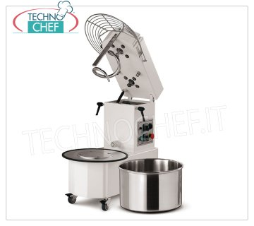 12 Kg SPIRAL MIXER with liftable head and removable bowl Spiral mixer with liftable head and 15 liter removable bowl, dough capacity 12 Kg, V 230/1, kW 0.90, dim. mm 675x350x702h