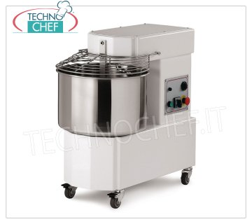 Spiral mixer of 18 Kg (20 lt well) Spiral mixer with head and 20 liter fixed bowl, dough capacity 18 Kg, V 230/1, kW 0.90, dim. mm 697x390x702h