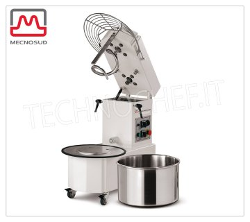 12 Kg SPIRAL MIXER with Lifting Head and Removable Tub, mod. IM12A Mod. IM12A Spiral mixer with liftable head and removable 15 liter tank, mixing capacity 12 Kg, V 230/1, kW 0.90, dim. mm 675x350x702h