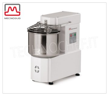 Spiral mixer of 5 Kg (7 liter bowl), Mod.IM5 Spiral mixer with head and 7-liter fixed bowl, dough capacity 5 Kg, V 230/1, kw 0.37, dim. mm 540x260x527h