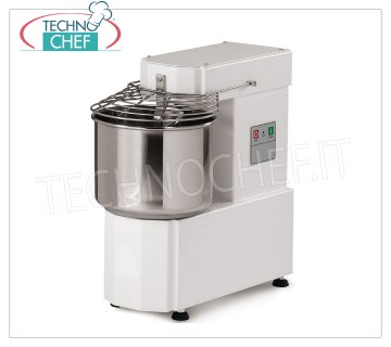 Spiral mixer 8 Kg (10 lt well) Spiral mixer with head and 10-liter fixed bowl, dough capacity 8 Kg, V.230 / 1, Kw.0.37, dim.mm.550x280x567h
