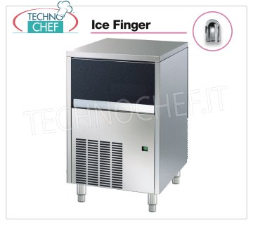 Technochef - ICE FINGER ICE CUBE CUBE MAKER with DEPOSIT, Mod.IMF35 Ice maker ICE FINGER with hollow cubes, max yield 35 Kg / 24h, storage capacity 15 Kg, water cooling, V.230 / 1, Kw 0,31, Weight 47 Kg, dim.mm.495x580x687h