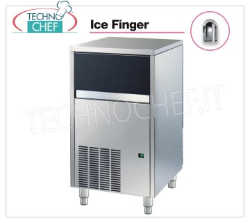 Technochef - ICE FINGER ICE CUBE CUBE MAKER with DEPOSIT, Mod.IMF58 Ice maker ICE FINGER with hollow cubes, max yield 50 Kg / 24h, storage capacity 20 Kg, water cooling, V.230 / 1, Kw 0.42, Weight 54 Kg, dim.mm.495x580x797h