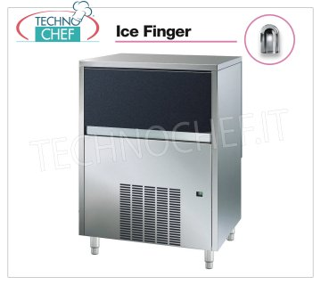 Technochef - ICE FINGER ICE CUBE CUBE MAKER with DEPOSIT, Mod.IMF80 Ice maker ICE FINGER with hollow cubes, max yield 75 Kg / 24h, storage capacity 30 Kg, water cooling, V.230 / 1, Kw 0,48, Weight 75 Kg, dim.mm.735x596x907h