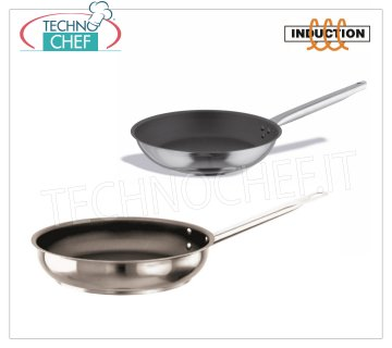 Nonstick stainless steel pans also suitable for induction