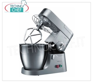 TECHNOCHEF - Professional KENWOOD Planetary with lt. 6,7, Mod.KMP771PRO KENWOOD Professional planetary mixer with stainless steel tank from 6,9 l, 4 stainless steel tools: wire whisk, leaf, hook and flexible whisk, including thermal blender, V.230 / 1, Kw.1,2, Weight 12 , 5 Kg, dim.mm.400x250x350h