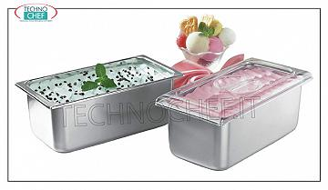 Stainless steel ice cream tubs Stainless steel ice cream bowl, lt.2,5, dim.mm.180x165x120h