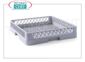 TOWEL WASHED BASKETS FOR Cutlery BASKET WITH TIGHT KNITWEAR for CUTLERY CLEANING, made of polyethylene, INTERNAL HEIGHT 88 mm, can be fitted with RIALZI, external dimensions mm. 500x500x103h