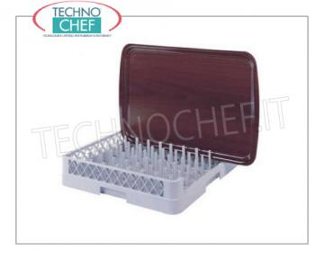 Dishwasher baskets for Gastro-Norm TRAYS with 1 open side BASKET for Gastro-Norm TRAYS with 1 side open to WIDE SHIRTS, made of polyethylene, external dimensions mm.500x500x103h