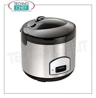INOX COOKER for about 10 PORTIONS with WARM function, capacity lt.1.8 Rice cooker in stainless steel for about 10 portions, with WARM function, capacity 1.8 liters, V.230 / 1, Kw.0.7, weight 3.5 Kg, dim.mm.285x285x280h
