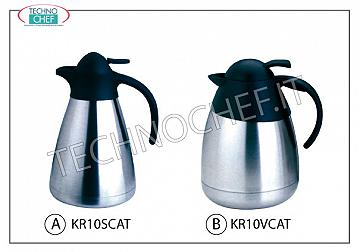 Thermal carafes Isothermal stainless steel carafe, capacity lt.1