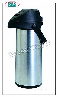 Thermal carafes Stainless steel isothermal jug, with internal glass, 1.9lt capacity.