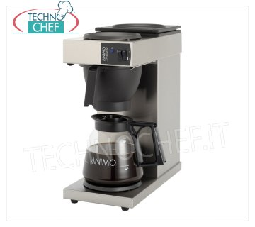 Technochef - AMERICAN COFFEE MACHINE of 18 lt, mod.KR220523 American filter coffee maker '' EXCELSO '' with 1 jug and 2 hot plates, hourly production lt.18, V.230 / 1, Kw.2,25, dim.mm.190x370x433h