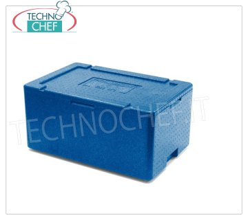 Technochef - ISOTEMIC CONTAINER for GN 1/1 containers, in expanded polypropylene Isothermal container in expanded polypropylene, upper opening for inserting 1/1 gastro-norm small pods (32.5x53 cm) or submultiples with a maximum height of 20 cm, external dimensions 60x40x28h cm
