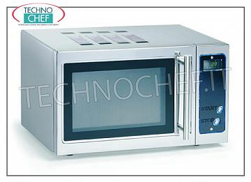 COMBINED Microwave Oven with DIGITAL CONTROLS, ideal for SELF SERVICE COMBINED Microwave Oven with DIGITAL CONTROLS, AUTOMATIC SWITCH-OFF AFTER 30 '', ideal for SELF SERVICE, room capacity 23 lt, OUTPUT POWER Kw 0.9, internal room dimensions 350x330x215h mm, V.230 / 1, Kw 1.4, external dimensions mm 508x420x305h