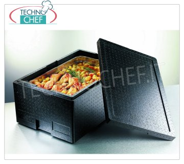 Technochef - ISOTEMIC CONTAINER for GN 1/1 containers, in expanded polypropylene Isothermal container in expanded polypropylene, upper opening for inserting 1/1 gastro-norm basins (325x530 mm) or submultiples with a maximum height of 150 mm, dim. external mm 600x400x230h