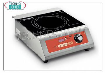Technochef - Table INDUCTION PLATE, USEFUL SURFACE Ø 240 mm INDUCTION PLATE for table, USEFUL SURFACE: DIAMETER 240 MM, POWER 3,5 Kw, V. 230/1, external dimensions mm. 330X440X164h