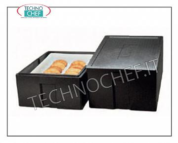 Isothermal containers for Gastronorm containers Isothermal container in expanded polypropylene, upper opening for inserting pizza / pastry pans of 600x400 mm, dim. external mm 685x485x260h