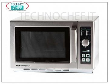 MENUMASTER, Professional microwave oven, mod. RCS511DSE, MANUAL COMMANDS MENUMASTER Professional microwave oven, with MANUAL CONTROLS, 368x381x216h mm cooking chamber, suitable for GN 2/3 containers, power output Kw 1.1, V.230 / 1, Kw 1.55, weight 18.6 Kg, dim.mm 559x438x349h