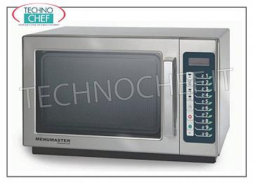 MENUNASTER, Professional microwave oven mod. RCS511TS, DIGITAL CONTROLS MENUMASTER Professional microwave oven, with DIGITAL CONTROLS, 368x381x216h mm cooking chamber, suitable for GN 2/3 containers, power output Kw 1.1, V.230 / 1, Kw 1.55, weight 18.6 Kg, dim.mm 559x438x349h