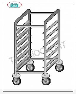 Trolleys for trays / Gastronorm basins Trolley with 14 Anti-overturning Guides for Gastro-Norm 1/1 - 2/1 trays