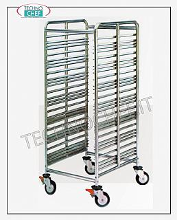 Trolleys for trays / Gastronorm basins Trolley with 28 Anti-overturning Guides for Gastro-Norm 1/1 - 2/1 trays
