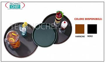Non-slip trays for bar room service Round tray in polypropylene with non-slip surface, diameter mm.279