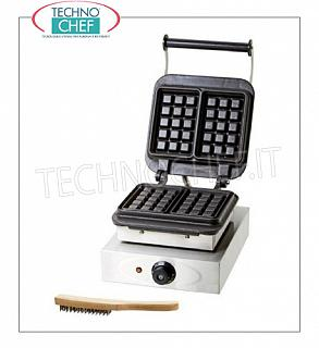 WAFFLE MACHINE with FIXED CAST IRON COOKING PLATE Machine for Waffles with fixed cast iron cooking plate, V. 230/1, Kw 2.2, weight 23.5 Kg, dim.mm.285x360x255h