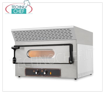 ELECTRIC PIZZA OVEN with EXTRACTOR HOOD, CHAMBER for 2 PIZZAS Ø 30 CM with REFRACTORY TOP ELECTRIC PIZZA OVEN with ACTIVATED CARBON EXTRACTION HOOD, KUBE EVO Line, for 2 PIZZAS diameter 300 mm, CHAMBER 610x520x110h with REFRACTORY STONE TOP, V.230 / 1, Kw.3.25, Weight 59 Kg, dim.mm .740x600 / 740x550h