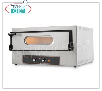 ELECTRIC OVEN for 2 Pizzas of 30, CHAMBER of 61 x 52 cm, KUBE Line ELECTRIC PIZZA OVEN for 2 PIZZAS diameter 300 mm, CHAMBER 610x520x110h mm with REFRACTORY STONE TOP, V.230 / 1, Kw.3,2, Weight 46.5 Kg, dim.mm.740x600 / 740x410h