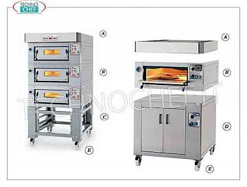 modular electric pizza ovens with refractory cooking top and plate inner chamber