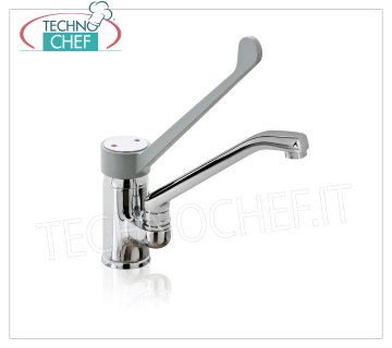 Single-hole mixer tap with clinical lever Single-hole mixer tap with clinical lever and cast swivel spout
