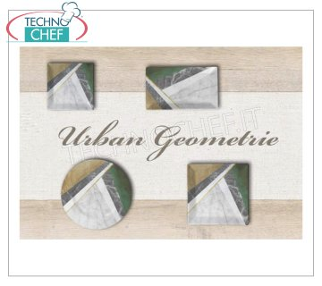 SATURNIA - MARBLE GEOMETRIE DIGITAL PRINT Porcelain Collection - Restaurant Plates FLAT PLATE cm 27x27, MARBLE GEOMETRIE DIGITAL PRINT Collection, Brand SATURNIA - Available in packs of 6 pieces