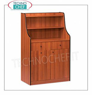 Room service furniture Cherry wood dining room furniture with 2 storage drawers, sliding hopper, 1 swing door and 2 shelves, dim. Mm 940x480x1450h