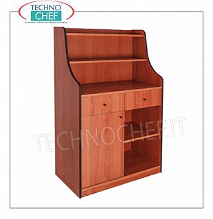 Room service furniture Cherry wood dining room furniture with 2 storage drawers, 1 swing door, dayroom with shelf and raised with 2 shelves Dim dim. 940x480x1450h