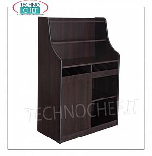 Room service furniture Cherry wood dining room furniture with 2 open cupboards, 1 swing door, dayroom with shelf and raised with 2 shelves, dim.mm.940x480x1450h