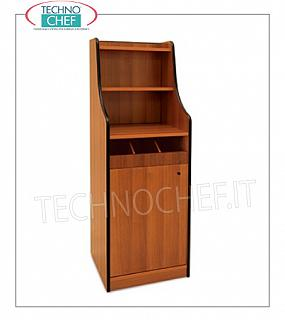 Room service furniture Cherry wood dining room furniture with 1 open drawer unit, swing door with 2 shelves, dim.mm.480x480x1450h