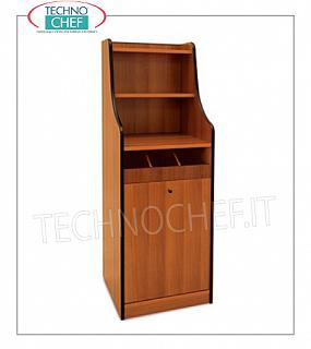 Room service furniture Cherry wood dining room furniture with 1 open drawer tray, sliding and raised hopper with 2 shelves, dim.mm.480x480x1450h