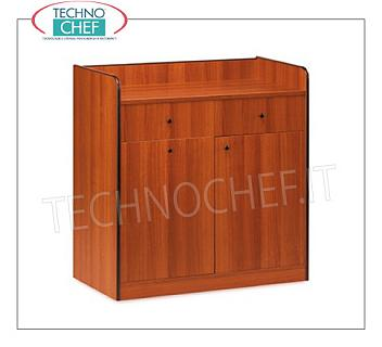 Room service furniture Cherry wood dining room furniture with 2 storage drawers, sliding hopper and 1 swing door, dim.mm.940x480x980h
