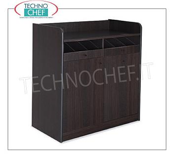 Room service furniture Cherry wood dining room furniture with 2 open drawer drawers, sliding hopper and 1 swing door, dim.mm.940x480x980h