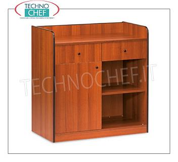 Room service furniture Cherry wood dining room furniture, with 2 storage drawers, 1 swing door and daytime storage compartment, dim.mm.940x480x980h