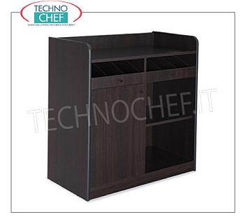 Room service furniture Cherry wood dining room furniture with 2 open cupboards, 1 swing door and daytime storage compartment, dim.mm.940x480x980h