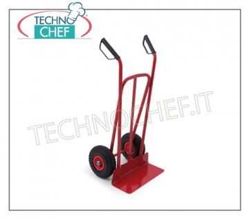 Technochef - CASE-PACKAGE TROLLEY, art. 1891 Red box trolleys, with 2 wheels and guide handles, max. Load 200 kg, dim cm. 62x55x126h